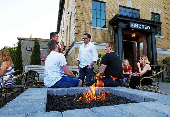 The patio at Kindred restaurant, in the Kinn hotel at 2535 S. Kinnickinnic Ave., was popular in summer. The two-year-old restaurant has closed.