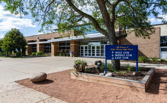 FILE PHOTO - Entrance to Kettle Moraine High School gymnasium as seen on Saturday, August 24, 2019.