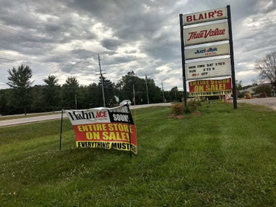 Blair's Hardware - Menomonee Falls/Butler, a True Value store, will be closing Sept. 13. The store will become a Hahn Ace Hardware in November.