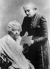 Susan B. Anthony (standing): Anthony was among the most accomplished leaders in the Women's Suffrage movement.