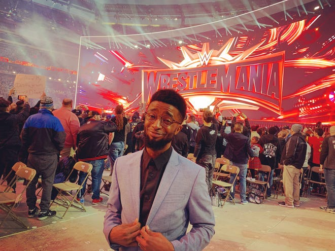 "Milwaukee-born rapper Josiah Williams created hip-hop remixes of WWE theme songs for his ""Wrestle & Flow"" YouTube videos beginning last year. Now he's working for the WWE."