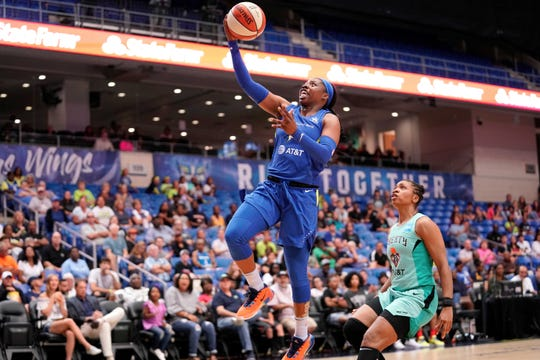 Rookie Arike Ogunbowale set a Dallas Wings franchise record for 20-point games.