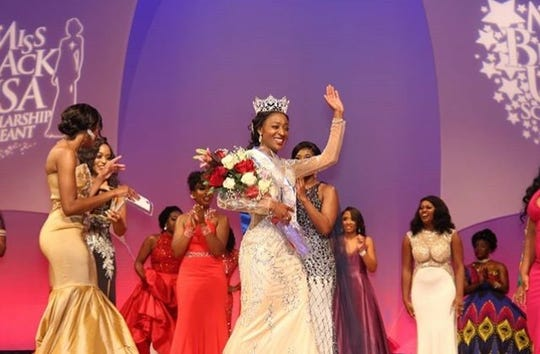 Madison-native TeKema Balentine, now Miss Black USA, is in nursing school, and she's a track coach.