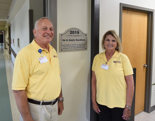 Ed and Gayle Goodman recently donated the money to renovate Baxter Regional Medical Center's surgical reception area. The reception area serves as the central connection between surgical patients, their families and medical personnel.