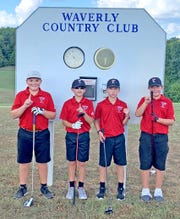 Student golfers that qualified to represent Fairview Middle School GOLF were (left to right) Taylor Hughes, Ethan Pronk, Aiden Pronk, and Matthew Coleman.