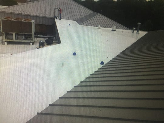 Some of the new Granville school roofing installed over the summer.