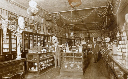Believed to be the drugstore in Carrizozo in early 1900, the image was copied from an original owned by Leland DeFord.