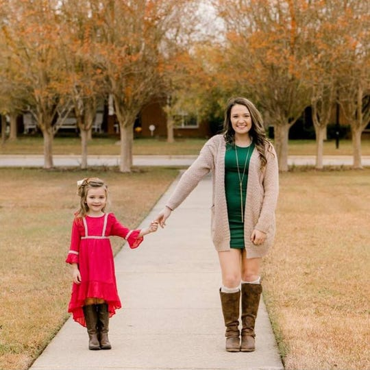 Cantonment's Haley Hassell went viral over her Facebook status about a parenting experience she had with her daughter, 6-year-old Presleigh Liechty.