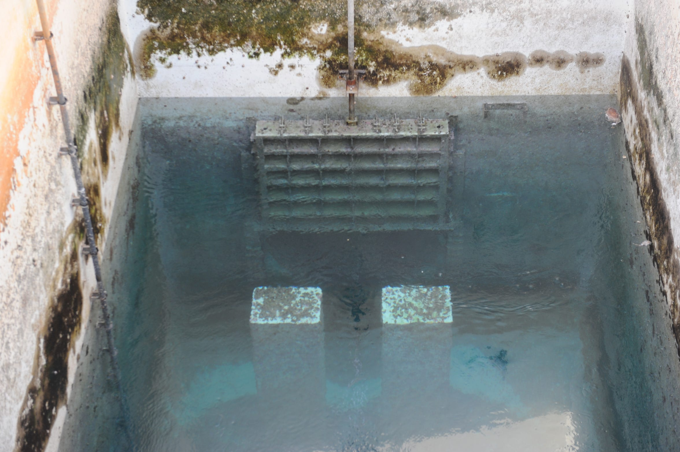Seawater fills a tank at the Barka 4 desalination plant in Oman.