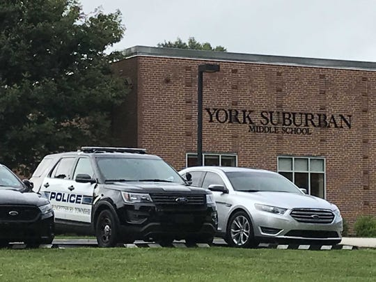 Springettsbury Township Police responded to Suburban Middle School on Monday morning after learning the school was burglarized Saturday night.  The school was searched to ensure a suspect was not still inside, police said.