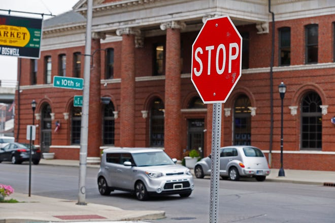 Traffic on North 10th Street in Richmond has a hard time seeing what's coming on North E, so a three-way stop soon will be added to the intersection.
