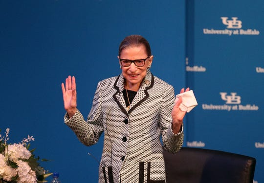 Associate Justice Ruth Bader Ginsburg after she is awarded a SUNY Honorary Degree by University of Buffalo.