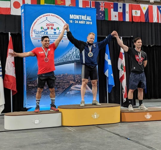 Justin Devereux wins gold in Montreal on Friday, Aug. 23, 2019.