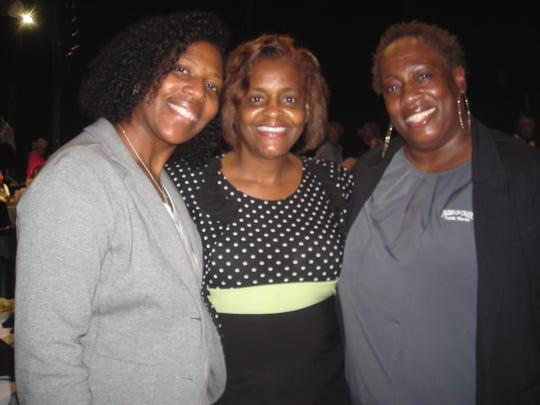 Toya Edwards, Denise Tolber, Jennifer Glover at YWCA Lucheon.