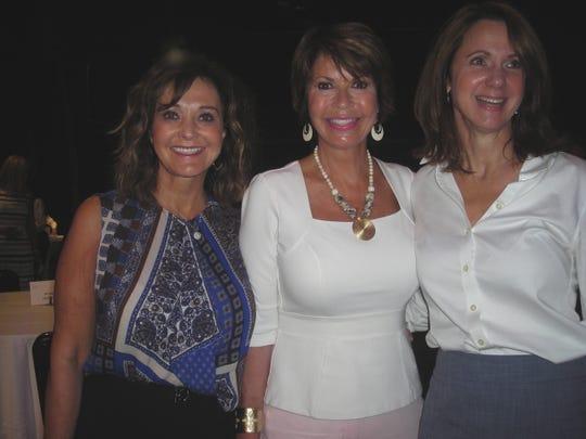 Waynette Ballengee, Linda Biernacki, Emily Mott at YWCA Luncheon.