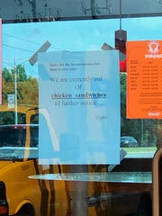 The Popeyes on Youree Drive ran out of chicken sandwiches in less than 4 hours Monday.