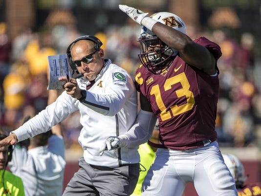 Minnesota coach P.J. Fleck enters this third year as Minnesota's head coach