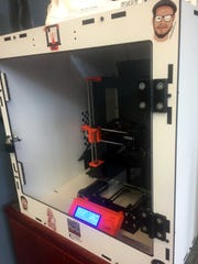 The new 3D printer available for patrons at the Augusta County Library.