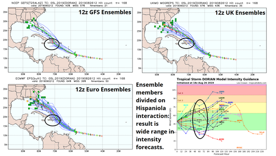 The spaghetti models show a wide range of forecasts.
