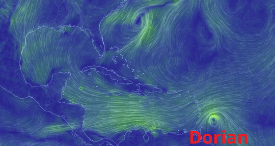 As of Monday afternoon, Dorian is almost equally likely to fizzle, weaken or strengthen.