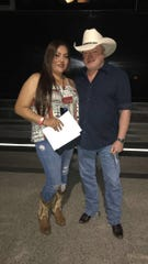 Alexandria Ortiz got to meet Mark Chesnutt in a meet-and-greet before the concert Saturday, Aug. 24, 2019.