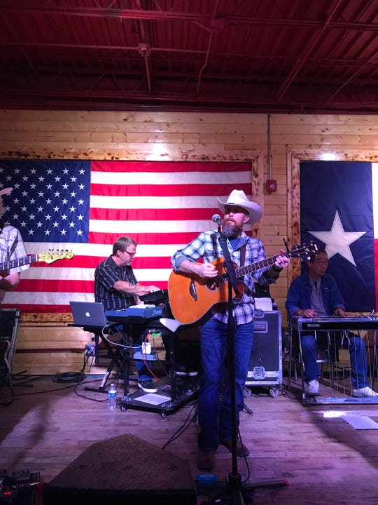 Mark Chesnutt's band entertained country fans Saturday, Aug. 24, 2019, at Whiskey Dick's in El Paso.