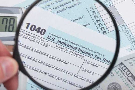 IRS tax form 1040.
