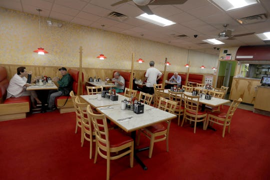 Customers eat breakfast at Hogan's Nyack Diner Aug. 26, 2019. George Hogan, who has owned the diner for eleven years, is retiring and has sold the restaurant to new owners.