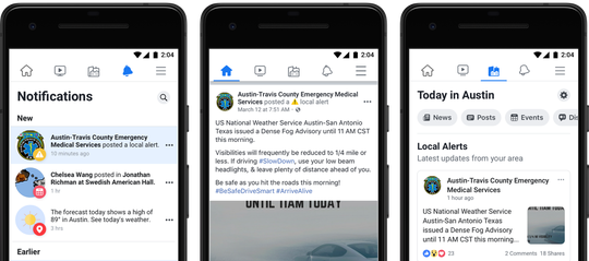 Facebook wants to keep citizens in-the-know about emergencies in their area.