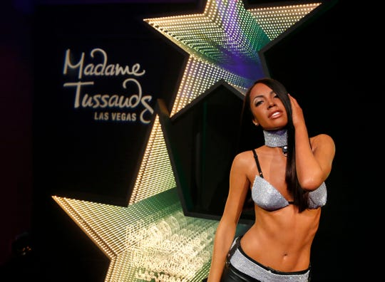 A figure of R&B princess Aaliyah was unveiled at Madame Tussauds Las Vegas at The Venetian Las Vegas on Aug. 21, 2019.
