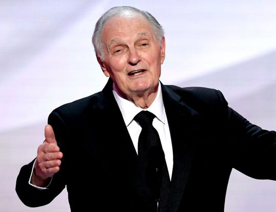 Alan Alda shared a throwback video of himself and his granddaughter tap-dancing.
