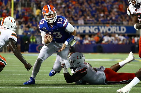 NCAA Re-Rank: Florida tumbles after sloppy win against Miami (Fla.) in Week 0