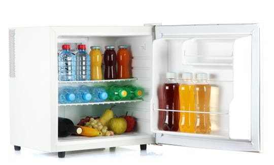 Stay stocked up with mini fridge options that fit any dorm size.