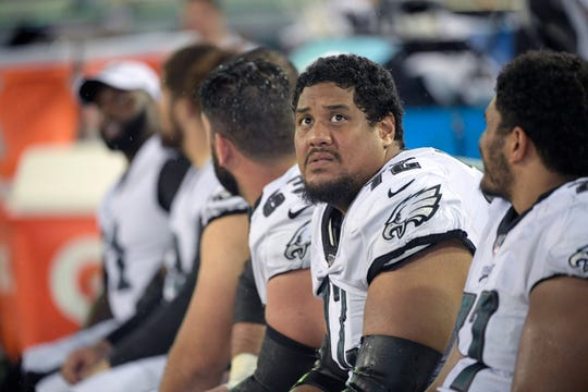 Halapoulivaati Vaitai, Philadelphia Eagles offensive tackle.
