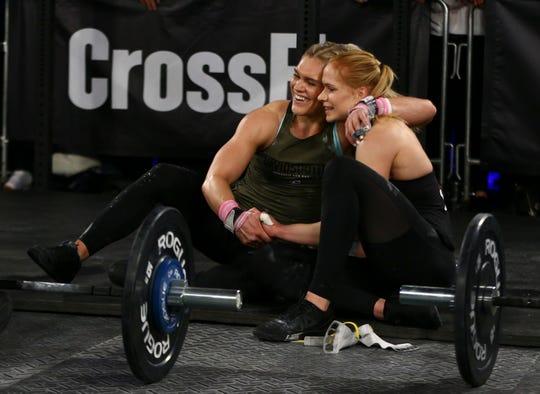 CrossFit veterans Katrin Davidsdottir, left, with Annie Thorisdottir