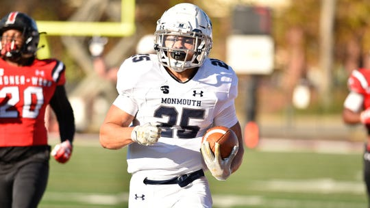 Monmouth junior running back Pete Guerriero leads a rushing attack that will be one of the team's strength's in 2019.