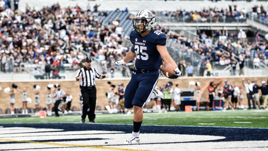Monmouth junior running back Pete Guerriero is averaging 6.3 yards-per-carry over his first two seasons with the Hawks.