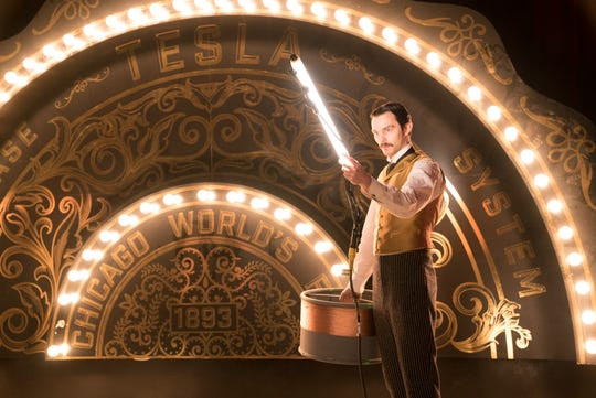 "Nicholas Hoult as Nikola Tesla in ""The Current War."""