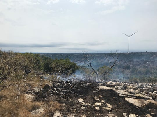 The Rhodes Ranch 3 Fire started on Monday along a Mulberry Canyon ridge line, which has steep grades and rocky terrain.