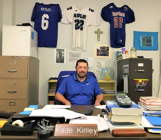 Rule football coach Kade Kittley returns for his second season at his alma mater. The Bobcats have seen increased participation in athletics, including more players coming out for football this fall.