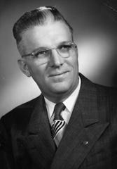 Horace Condley, photographed in 1951 as he was ending seven years on the Abilene ISD board of trustees. Community service has been a hallmark of the downtown CPA firm.
