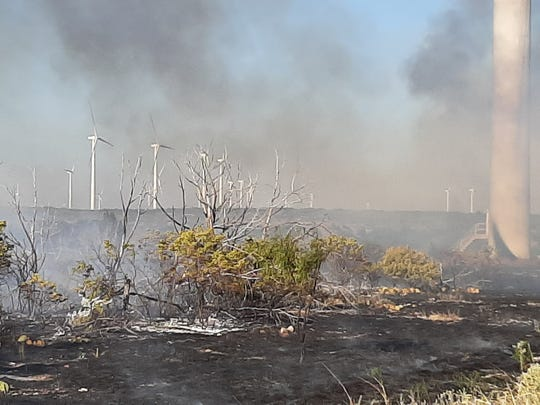 The Rhodes Ranch 3 Fire in Mulberry Canyon in southwest Taylor County has burned 200 acres and was only 50 percent contained as of Tuesday.
