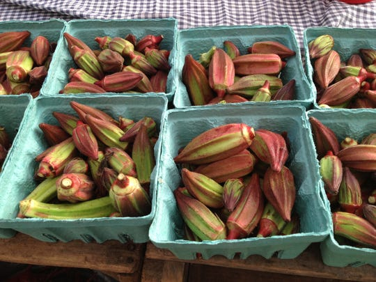 Okra from Ten Mile Farm