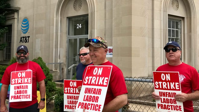 AT&T workers have been walking the picket line this week in front of the company's downtown headquarters.
