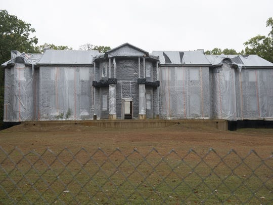 The unfinished mansion at 1138 Winding Drive in Cherry Hill as it appeared in October 2013.