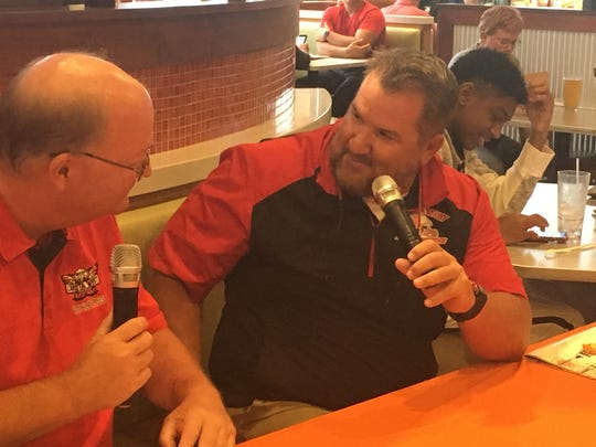 "Lakota West football coach Tom Bolden kicked off his live ""Firebird Football Show"" Monday, Aug. 26 at Buffalo Wings and Rings at Plum Square."