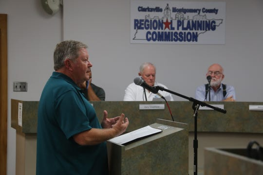 Roger Matchett of the architectural firm Matchett & Associates discusses the independent assessment of the old Methodist church, as requested by the Clarksville/Montgomery County Regional Planning Commission at their meeting on Aug. 26, 2019.