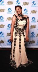 Kierra (Kiki) Sheard backstage at the 2014 Stellar Awards at Nashville Municipal Auditorium on January 18, 2014 in Nashville, Tennessee.