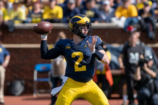 Michigan quarterback Shea Patterson returns for his second season in Ann Arbor.