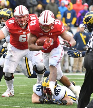Wisconsin's Jonathan Taylor ran for 2,194 yards and 16 touchdowns as a sophomore and gained more than 200 yards in a game five times.
